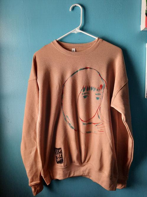 Woman's Face Crewneck Sweatshirt