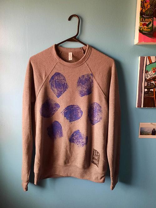Blue Woman Crewneck Sweatshirt