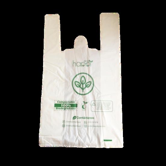 Bolsas compostables T-Shirt 100 bolsas