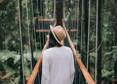 Woman on Bridge