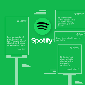 Spotify's data-driven billboard campaign