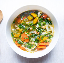 Vegetable Soup with Chickpea Stock (Vegan)