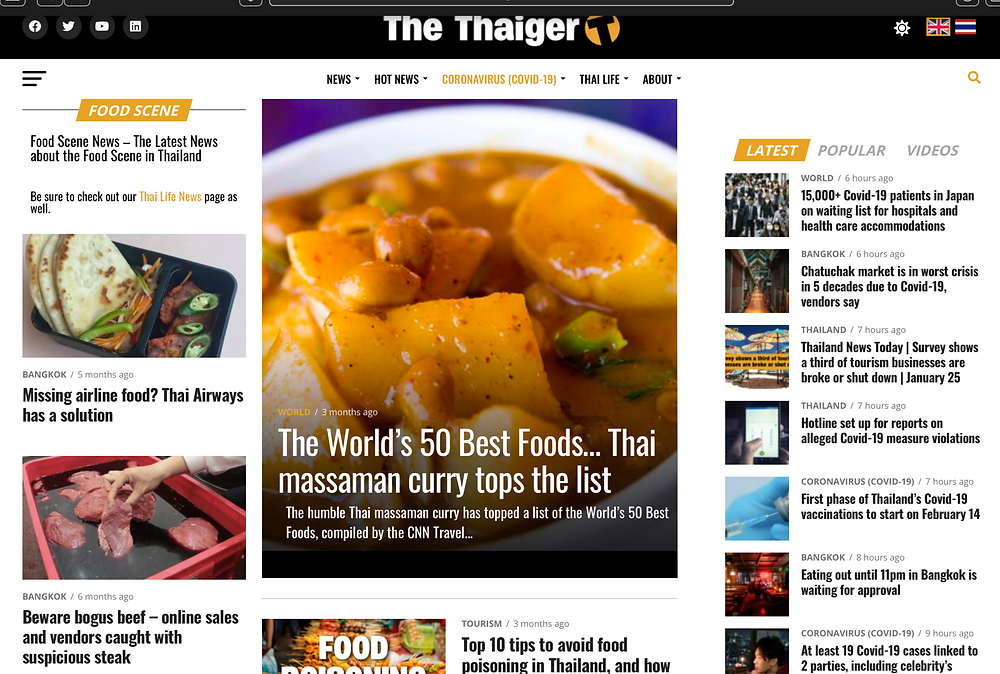 thaiger online newspaper food section