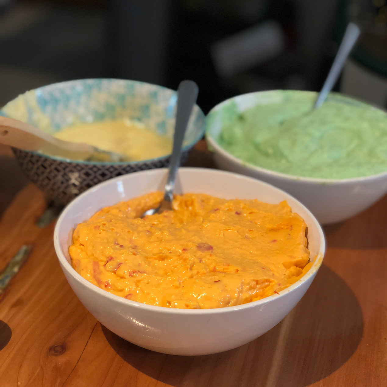 Pimiento cheese, butter, and watercress spread