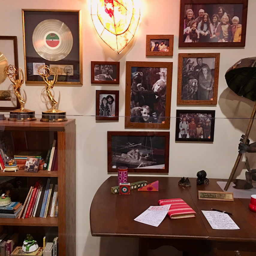 Jim Henson's desk and awards