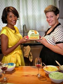 Host Sheena Wiley and food stylist Elizabeth Grove