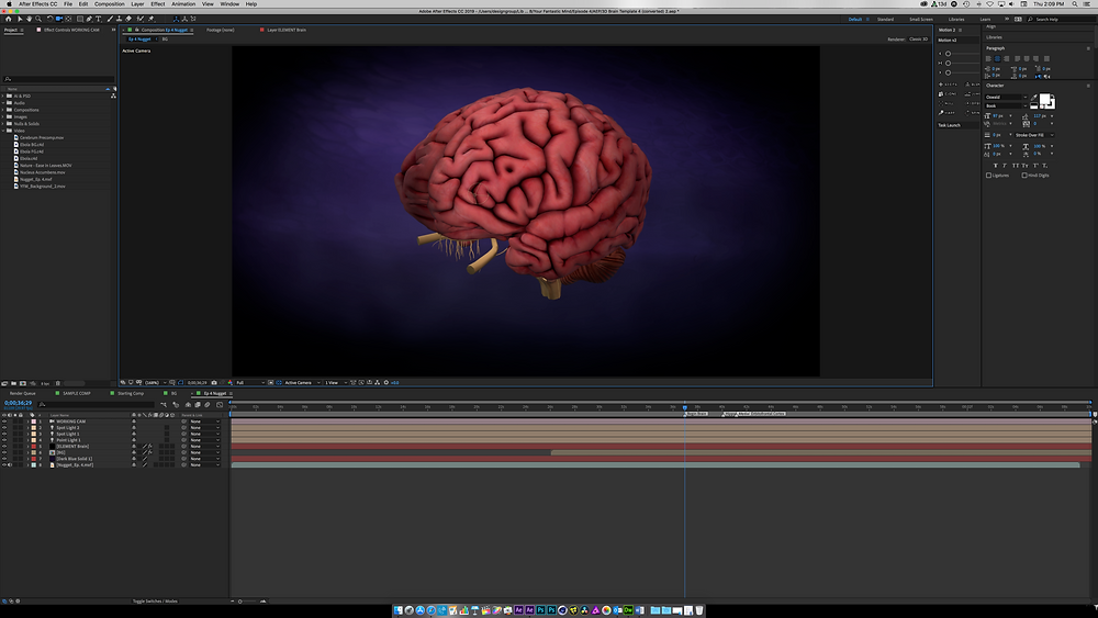 3D Brain in After Effects