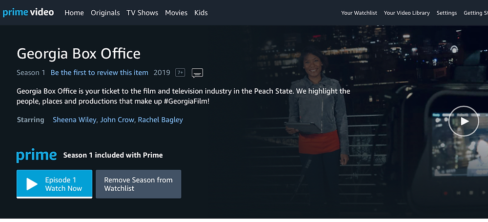 Georgia Box Office now on Amazon Prime Video