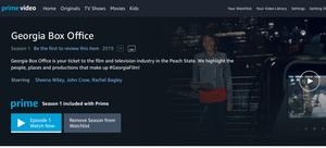 Georgia Box Office now on Amazon Prime Video