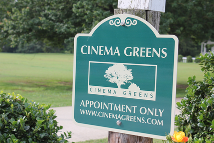 Cinema Greens Sign
