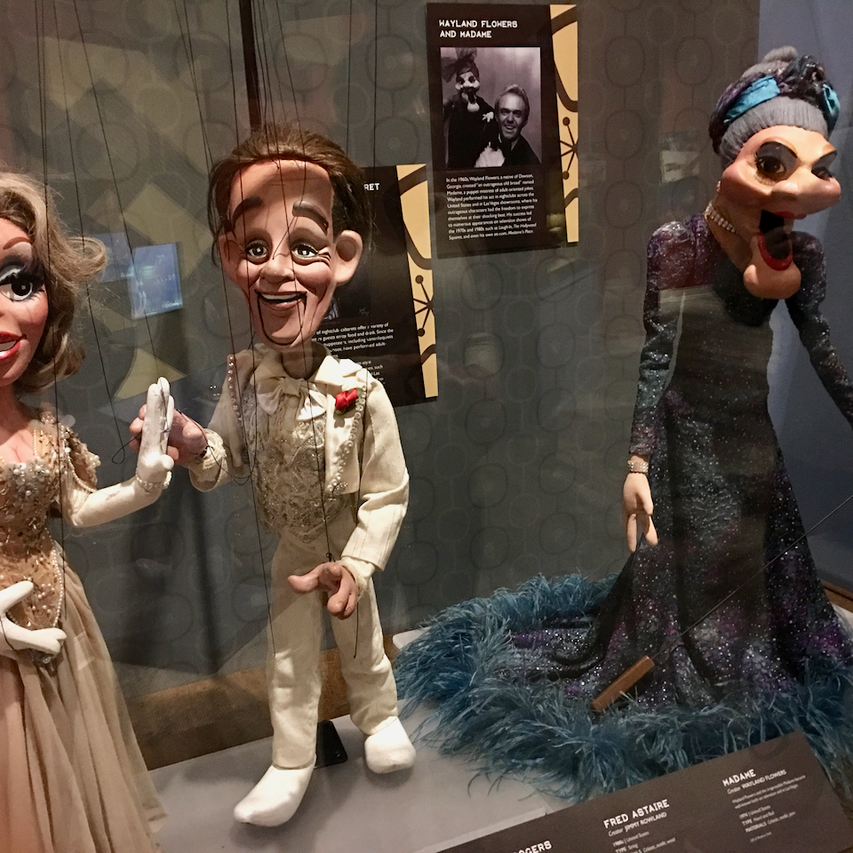 Madam, Ginger Rogers and Fred Astaire puppets