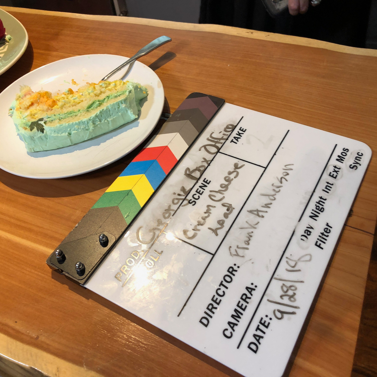 Georgia Box Office Slate and a slice of cream cheese loaf