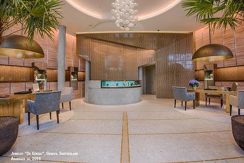 éclairage de luxe pour la bijouterie Gorski à Genève - un projet d'Agabekov, une société de Catyph H