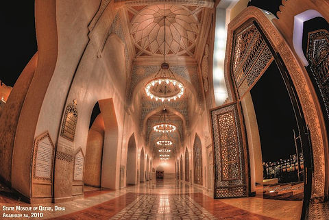 La Mosquée du Qatar, un projet d'Agabekov Lighting - Catyph Holding