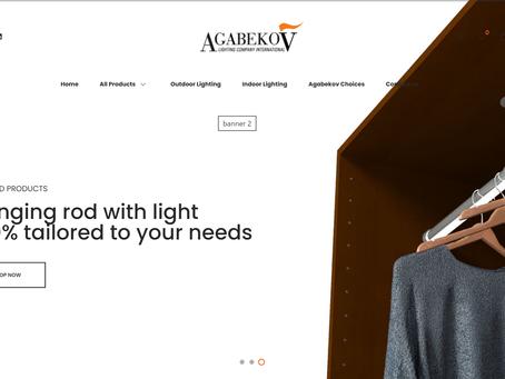 Agabekov Lighting vous présente son shop en ligne!