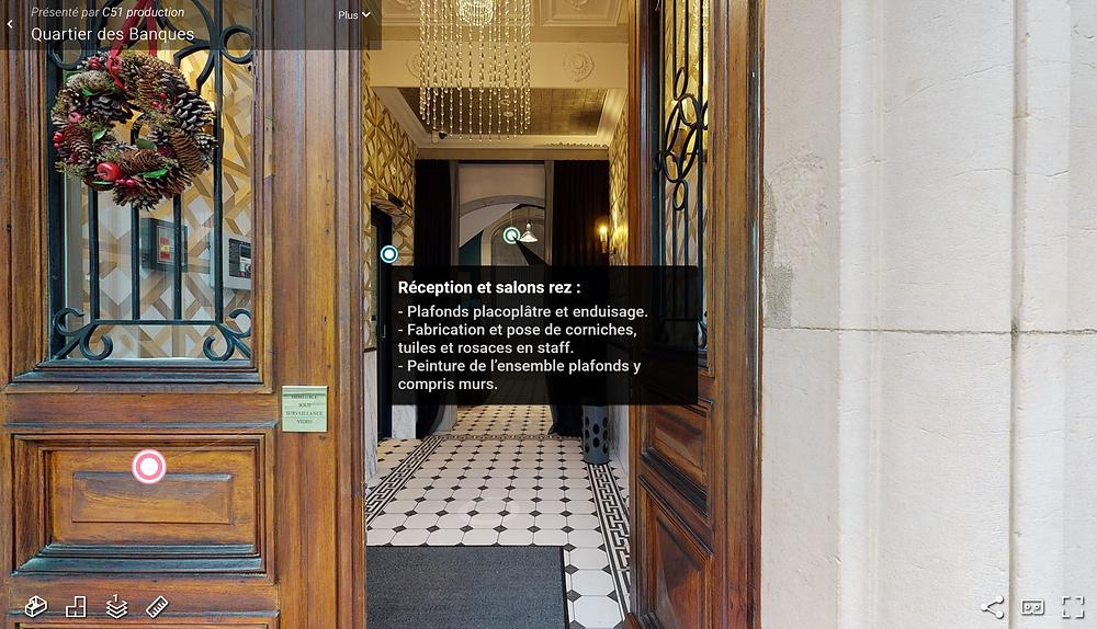Visite virtuelle de Quartier des Banques à Genève, produit par C51 Production