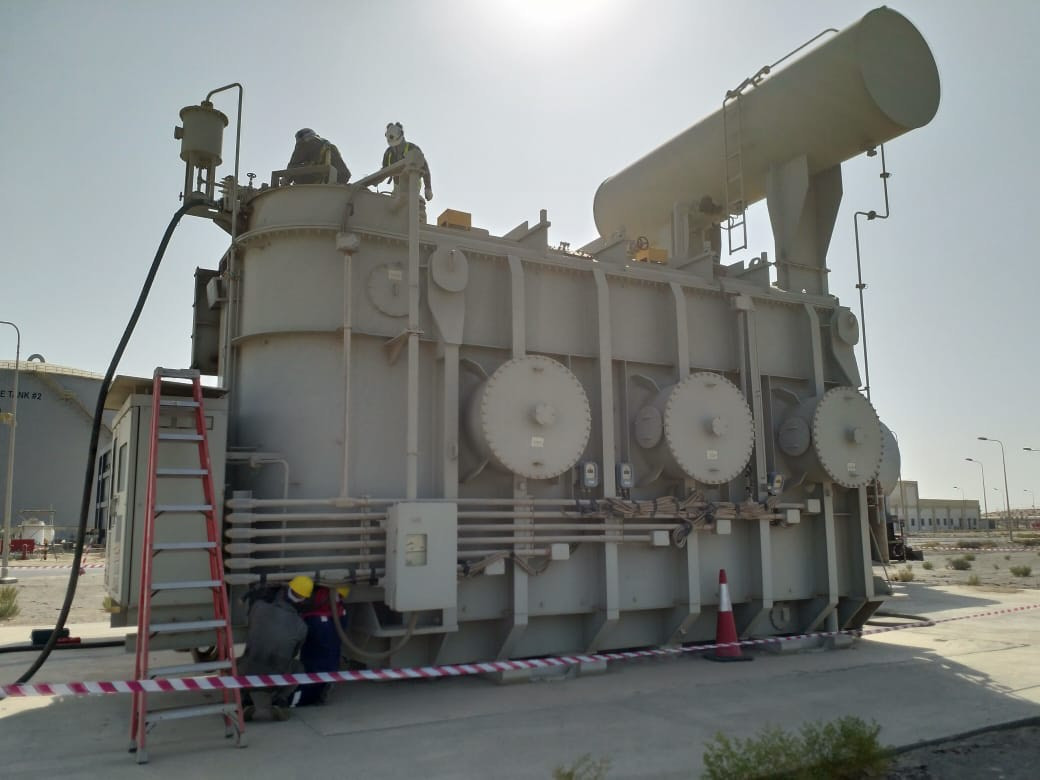 MV Transformer Oil Filtration at QIPP - With NOMAC