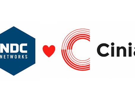 Upeita uutisia!Cinia ja NDC yhdistävät voimansa.