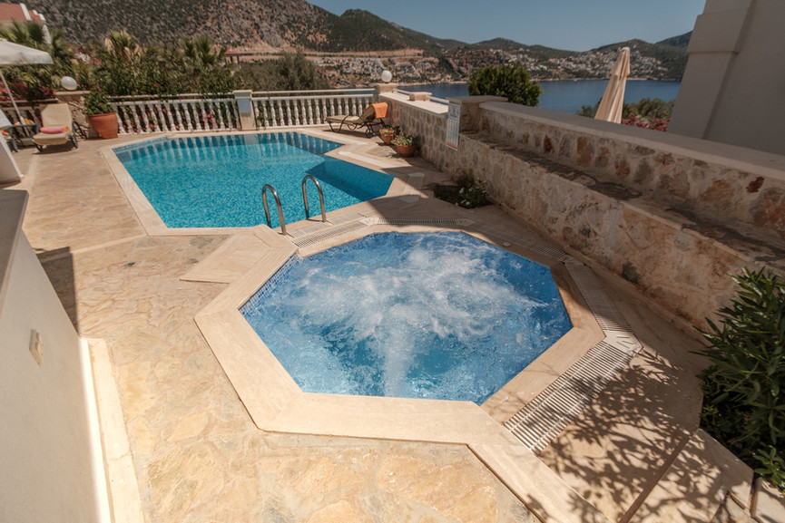 Villa Alev - Pool and Jacuzzi - Kalkana - Kalkan.jpg
