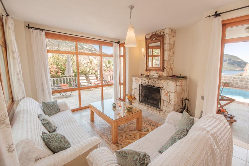 Villa Alev - Open plan - Dining - Sitting Room - Kalkana - Kalkan(2).jpg