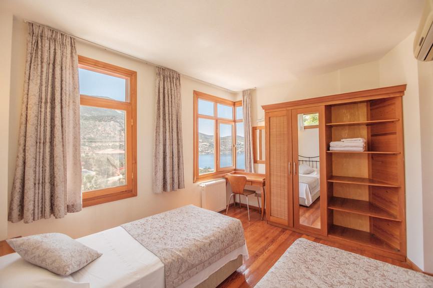 Villa Alev - Twin Bedroom Front - Kalkana - Kalkan.jpg