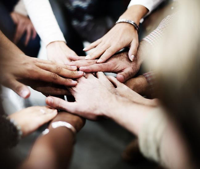 Team Teamwork Join Hands Partnership Con