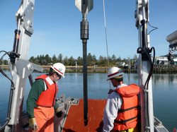 Deploying gravity core for USACE in