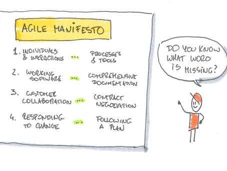 Czy najczęściej występujące w Agile Manifesto* słowo to jedno z najważniejszych?