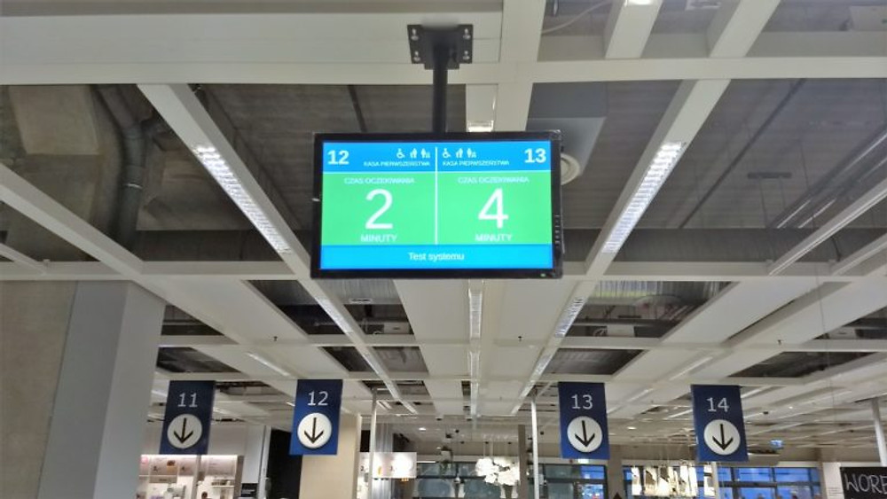 Tablica informacyjna w Ikei