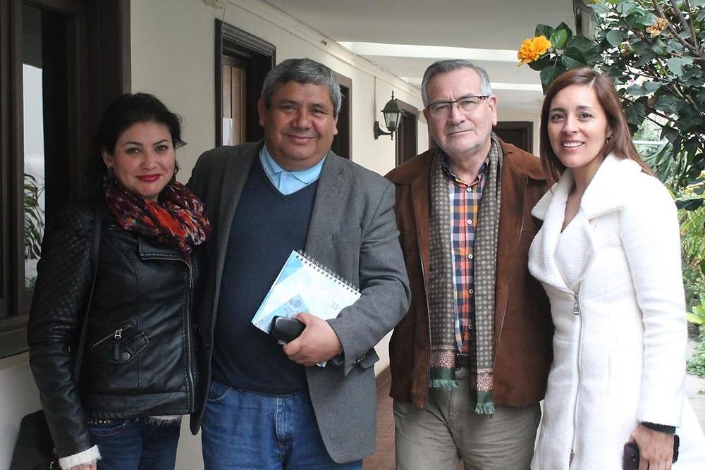 Diputado Raúl Saldívar junto a Dirigentes del Sindicato Inacap