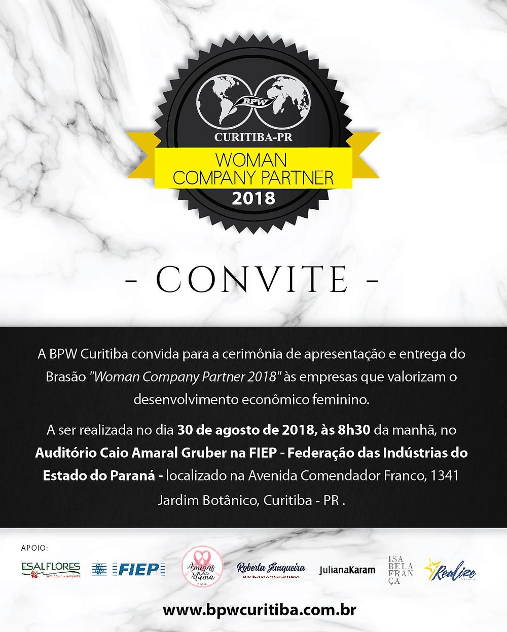 Informações: secretaria@bpwcuritiba.com.br