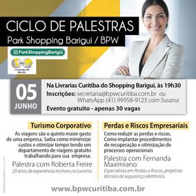 CICLO DE PALESTRAS BARIGUI - 05/06/2019