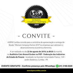 BRASÃO WOMAN COMPANY PARTNER 2019