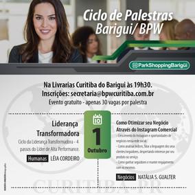 CICLO DE PALESTRAS BARIGUI 01/10/2018