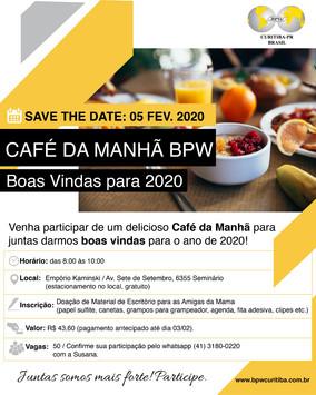 CAFÉ DA MANHÃ - Boas vindas 2020