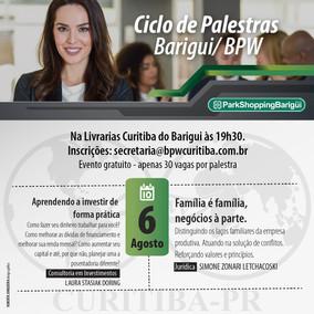 CICLO DE PALESTRAS - PARK SHOPPING BARIGUI