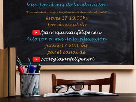 Celebramos juntos en el mes de la educación