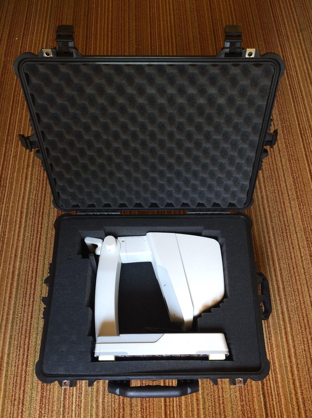 PortableX inside Suitcase