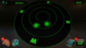 Alien UFO radar UI from C7 Games augmented reality mobile game UFOto