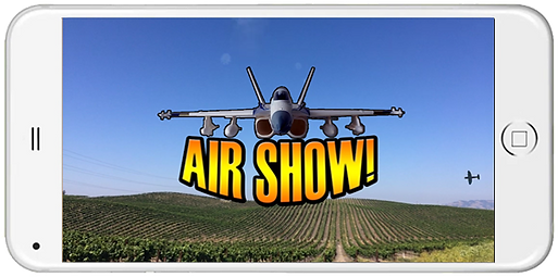 Air Show airplane augmented reality prototype by C7 Games