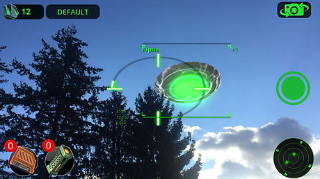 Alien UFO from C7 Games augmented reality mobile game UFOto