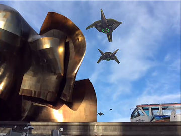 Alien UFO from C7 Games augmented reality mobile game Alien Skies