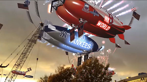 Red Sox and Yankees augmented reality blimps from C7 Games