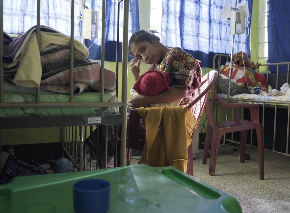 Inside the children's malnourishment unit in Acatenango, Guatemala.