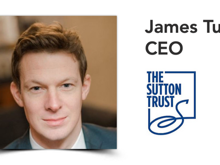 CEO of the Sutton Trust, James Turner on improving social mobility and tackling inequality