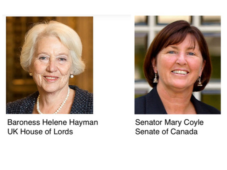 Baroness Helene Hayman and Senator Mary Coyle talk climate and political action with Alberto Lidji