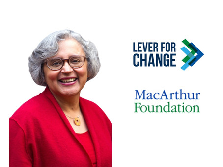 Cecilia Conrad, CEO of Lever for Change and Managing Director at MacArthur Foundation