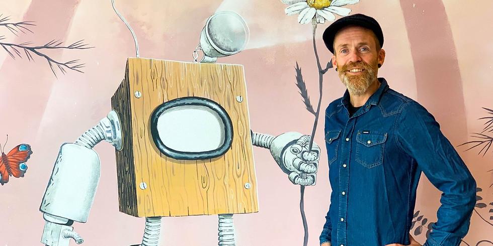 """Kulturisten: Vernissage LARS AURTANDE - """"Electricity"""" spiller etterpå."""