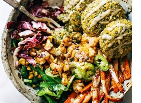 Falafel Winter Salad Bowl