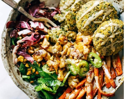 Falafel Winter Salad Bowl